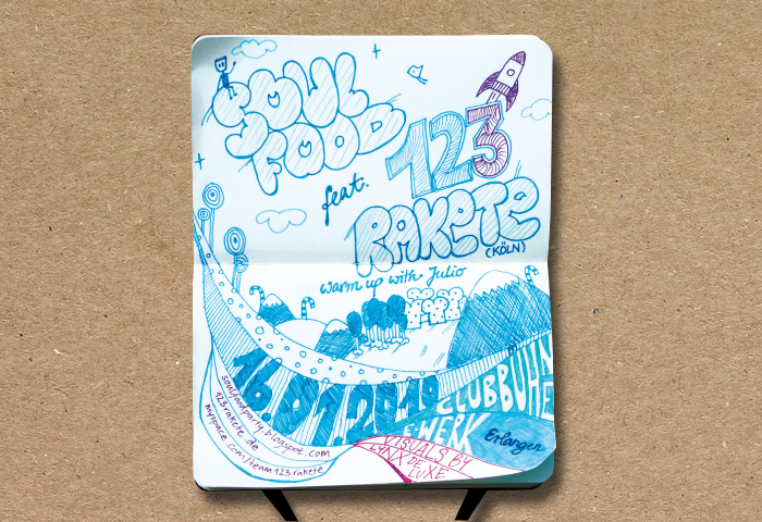 Soulfood – flyer, shirt, board